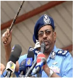 Al-Bashir Witnesses the Graduation Celebration of the Course of the  High Academy of Police Fellowship